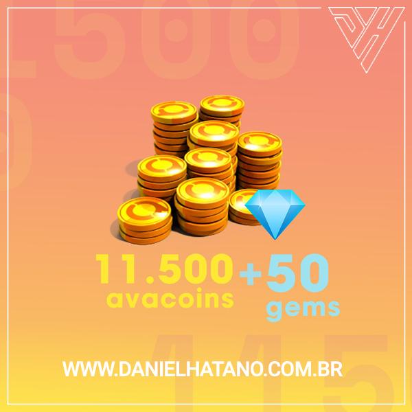 Avakin Life - 11500 Avacoins + 50 Gemas