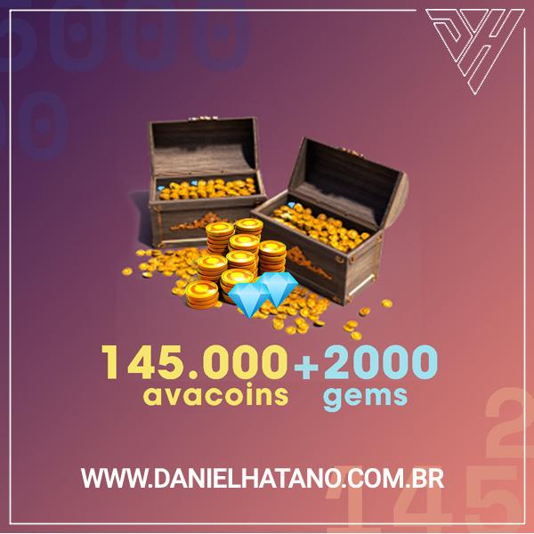 Avakin Life - 145.000 Avacoins + 2000 Gemas