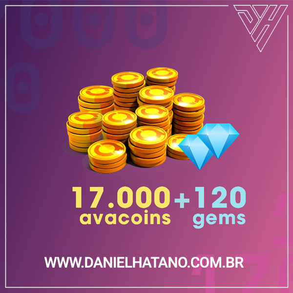 Avakin Life - 17.000 Avacoins + 120 Gemas