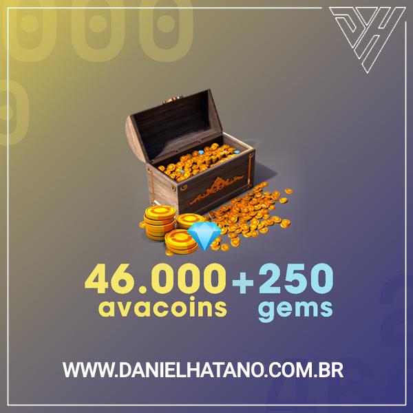 Avakin Life - 46.000 Avacoins + 250 Gemas