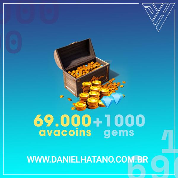 Avakin Life - 69.000 Avacoins + 1000 Gemas