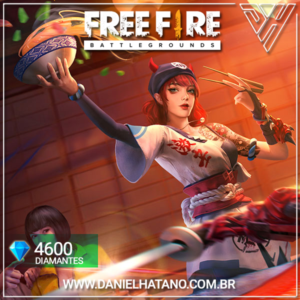 Free Fire - Diamante × 4.600 + Bônus