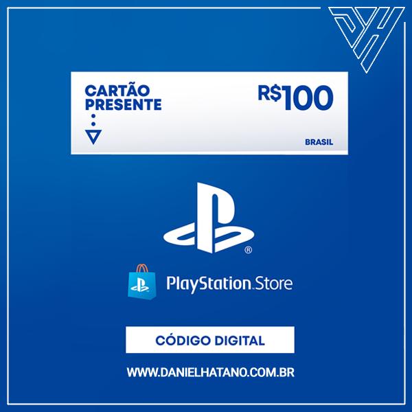 Cartão Presente PlayStation™Store - 100 Reais