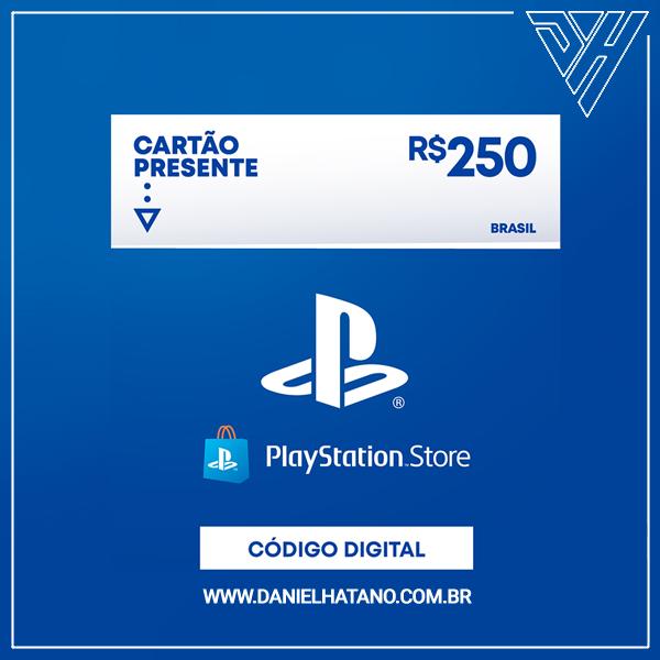 Cartão Presente PlayStation™Store - 250 Reais