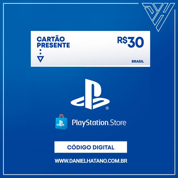 Cartão Presente PlayStation™Store - 30 Reais