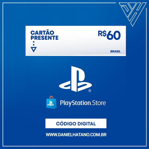 Cartão Presente PlayStation™Store - 60 Reais