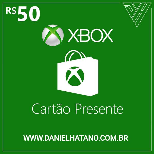 R$50 Xbox Store - Cartão-Presente Digital - [Exclusivo Brasil]
