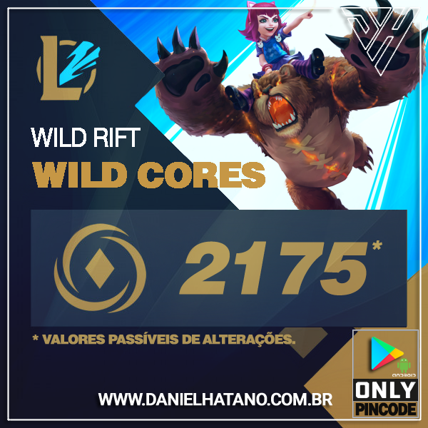 League of Legends Wild Rift  - 2175 Wild Cores [ANDROID]